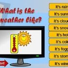 PPT game to practice weather vocabulary....