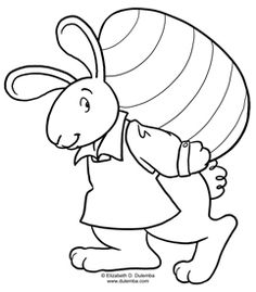 Coloring Page Tuesday - Easter Bunny at Work!