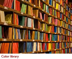 A library of smalti from the Orsoni Foundry in Venice.