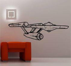 STAR-SHIP-ENTERPRISE-STAR-TREK-wall-art-sticker-vinyl