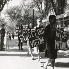 Vietnam War protesters in 1965.  They had no idea what the soldiers were doing so all could be free.....