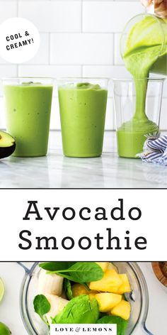 Avocado, banana Avocado Smoothie, Healthy Smoothies, Healthy Drinks, Smoothie Recipes, Healthy Snacks, Healthy Recipes, Healthy Life, Healthy Eating, Fruit Recipes