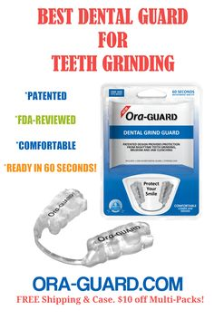 Ora-GUARD® is a patented dental guard for nighttime teeth grinding and Bruxism. The best alternative to custom dental grind guards built on unrivaled tech & research. Oil Pulling Teeth Whitening, Natural Teeth Whitening, Coconut Oil For Teeth, Coconut Oil Pulling, Dental Teeth, Dental Care, Teeth Grinding, Jaw Pain, Tooth Pain