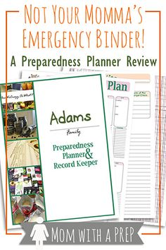 GIVEAWAY - Not Your Momma's Emergency Binder: A Preparedness Planner Review - a record keeper, inventory checker, checklist maker, and stockpile tracker - all-in-one!