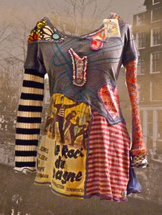 refashioned textiles and I would so wear that!