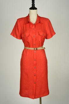 Vestidos Color Rojo, Shirt Dress, Shirts, Dresses, Fashion, Anna Dress, Red Gowns, Spring Summer, Colors