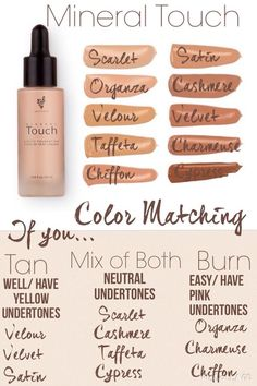 Touch Liquid foundation! Color Matching Chart