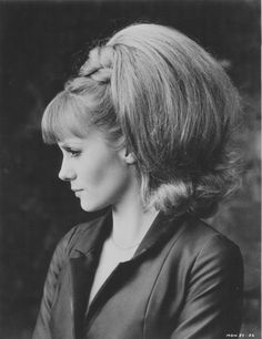 Francoise Dorleac, 1965. Wonder how many hairpieces she has on: d--- those things were hot.