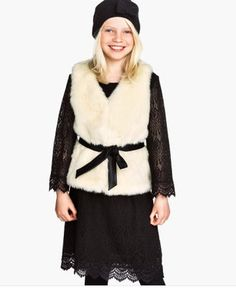 Plan on borrowing your daughter's faux fur vest this fall!