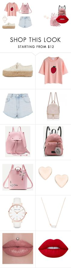 """""""Pink Casual"""" by rorro36b on Polyvore featuring moda, Superga, Topshop, WithChic, Ted Baker, Abbott Lyon, Kendra Scott y Lime Crime"""