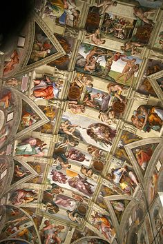 Big smile, Sistine Chapel.
