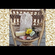 NEW Spa Exfoliating SoapSaver Bag Set  Handmade Soap Saver Bag Pouch Cotton Washcloth Crochet Beige Drawstring Bag SoapSack Handmade   Drawstring hanging soap saver bag and  Lemongrass Lavender Soap 100% Pure Natural Cotton (USA grown cotton)  Machine wash  3.5 inches x 5.5 inches Can hold a 5 oz. bar of soap and can also be used for any leftover pieces of soap  Firm Price unless Bundled Multiples Available Handmade Accessories