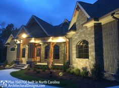 Architectural Designs Craftsman House Plan 15617GE comes in several versions. This was built by our client in North Carolina. Ready when you are. Where do YOU want to build?