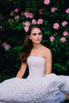 dior, fashion, Natalie Portman, flowers,