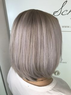 Ice blond hair color Inverted Bob, Hair Colors, Blonde Hair, Ice, Long Hair Styles, Beauty, Hair, Ash Blonde, Hairdos