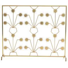 English Brass Fireplace Screen | Brass fireplace screen, Fireplace ...