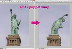 Never tried the Puppet Warp feature in Photoshop, but going to find a reason to give it a whirl.