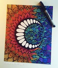 Drawings of love, drawing with markers, art drawings, sharpie doodles, pen Image Clipart, Art Clipart, Mandala Design, Sharpie Art, Sharpie Doodles, Pen Doodles, Arte Sketchbook, Zentangle Patterns, Art Patterns