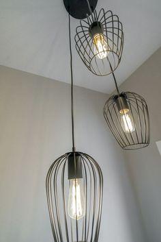 Love this wire chandelier in the stairwell. - Love this wire chandelier in the stairwell. Window Jamb, Window Frames, Bay Window, Wire Chandelier, Single Hung Windows, Stairway Lighting, Stair Well, Casement Windows, Antique Doors