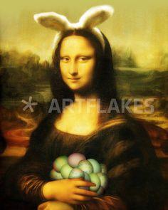 """""""Mona Lisa With Easter Eggs"""" Mixed Media von gravityx9 jetzt als Poster, Kunstdruck oder Grußkarte kaufen.."""