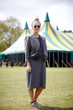 Name: MetteOccupation: TravellerHood: DenmarkWhat she's wearing: Vintage jacket, vintage bumbag, Primark dress, sandals, and sunglasses.