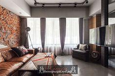 Стильные интерьеры гостиной в индустриальном стиле
