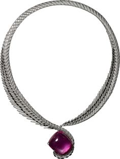 CARTIER. Necklace - white gold, one 68.82-carat cushion-shaped cabochon-cut…