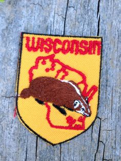 Wisconsin Vintage Travel Patch by HeydayRetroMart on Etsy, $5.00