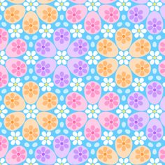 R6 eggs 3 - more floral fabric by sef on Spoonflower - custom fabric