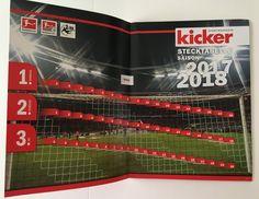 Die Bundesliga Stecktabelle.Ein Kult-Produkt in der Zeitschrift Kicker.Bundesliga-Beginn 18.August 2017