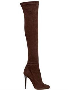 110MM TONI STRETCH SUEDE BOOTS