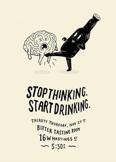 Start drinking