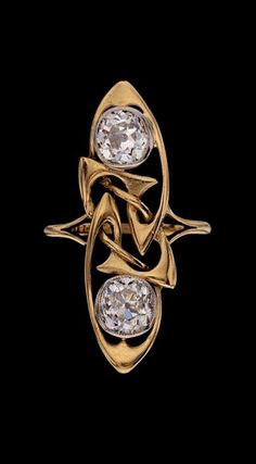 ARCHIBALD KNOX - Liberty & Co Art Nouveau Ring. Gold Diamond. British, c.1900.