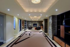 Basement Drop Ceiling Design Ideas, Pictures, Remodel, and Decor - page 2