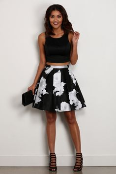 Annalise Black Floral Two Piece | windsor