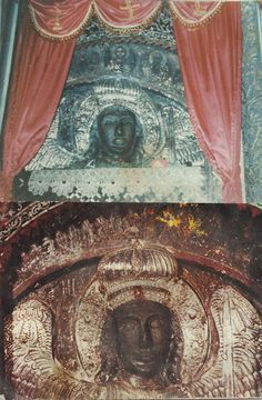 By John Henry Linardos Above can be seen two photographs of the same icon of the Archangel Michael from the Monastery that honors his name. Orthodox Catholic, Orthodox Christianity, Catholic Art, Michael Gabriel, Black Jesus, Greek History, Byzantine Icons, Archangel Michael, Orthodox Icons
