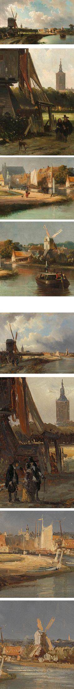 View of the Hague, and study by Cornelis Springer