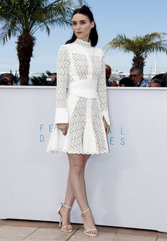 Rooney Mara in Alexander McQueen in Cannes at the Cannes Film Festival. (Photo: Ian Langsdon/European Pressphoto Agency)