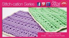 Shells and Raised Ribs Crochet Stitches