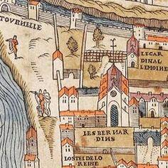Map of Paris Circa 1550   Old Maps of Paris