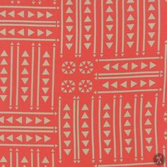 Valley Empire Quilting Fabric - Coral