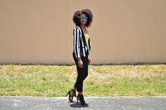 knicolestyle.com | Bold Stripes.   Fresh take on business casual style, check it out!