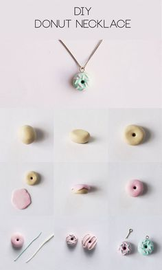 DIY Polymer Clay Donut Necklace Step-by-Step Tutorial | http://HungryHeart.se