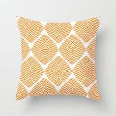 Diamond Illusion Pillow in Orange | dotandbo.com