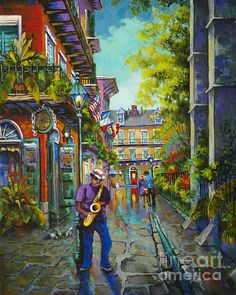 Pirate Sax by Dianne Parks - Pirate Sax Painting - Pirate Sax Fine Art Prints and Posters for Sale