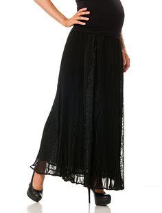 Secret Fit Belly™ Knee Length Pleated Maternity Skirt Maternity Skirts, Stylish Maternity, Bump, Fit, Shopping, Fashion, Moda, La Mode, Fasion