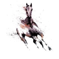 Horse 1 is a T Shirt designed by REDart to illustrate your life and is available at Design By Humans