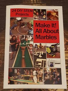Looking for some exhilarating, STEM inspiring, skies-the-limit, engagement? My new book Make It! All About Marbles. 24 DIY STEM  Projects is available at www.marblekeeper.com Marble Tracks, Stem Projects, Marbles, Problem Solving, New Books, Schools, Engagement, Creative, Diy