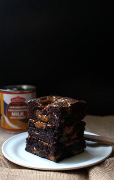 Wicked sweet kitchen: Dulce de leche brownies