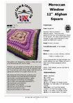 """Designed as part of the Keep Calm and Crochet On UK Crochet-A-Long (CAL) 2015 this subtly textured 12"""" Afghan square is deceptively easy to crochet with repetitive rows making it the perfect pattern for advanced beginners looking to learn some new crochet techniques."""